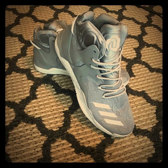 "d55e35a47499 Men s ADIDAS ""D Rose 7"" grey shoes! 18"